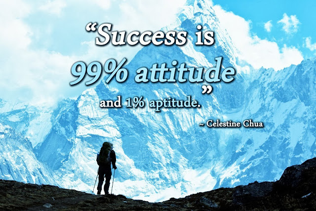 8 Key Traits Of Highly Successful People [infographic], success is 99 percent and 1 percent aptitude image.