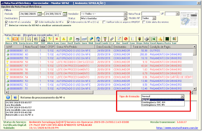 NeXT ERP Emissão de NF-e em Contingência SVC AN RS