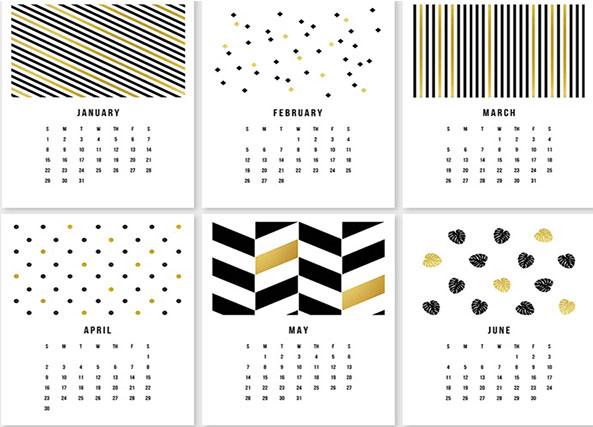 13 calendarios creativos para el 2017 hazte uno y personalizalo