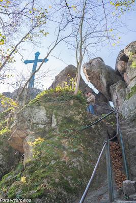 Krzyżna Góra, w drodze na szczyt