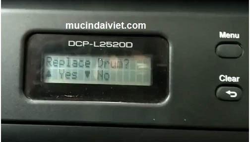 hướng dẫn reset mực máy in Brother L5100dn