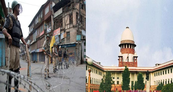 Jammu and Kashmir curfew: Center must give time to normalcy: Supreme Court,www.thekeralatimes.com