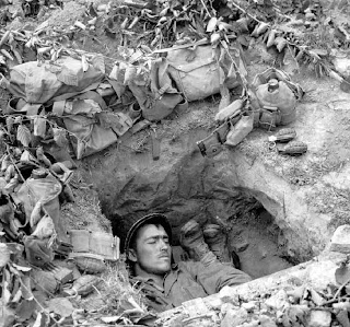 Soldier in a foxhole