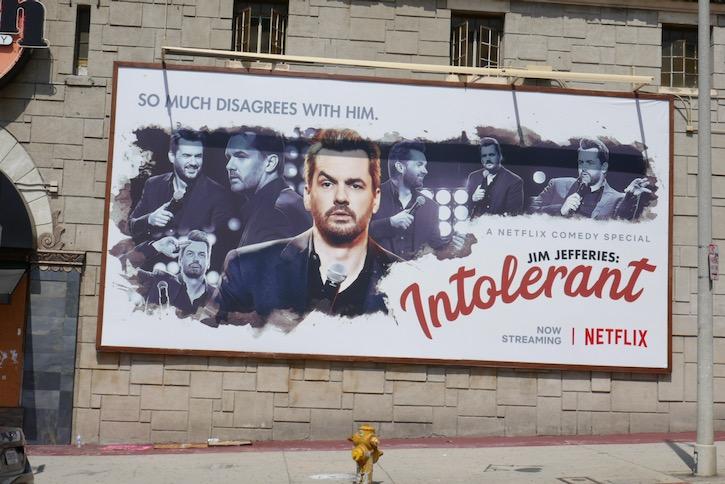 Jim Jefferies Intolerant Netflix billboard