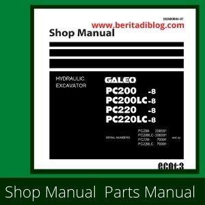 Shop manual galeo pc200-8 pc220lc-8 pc200. 220lc-8