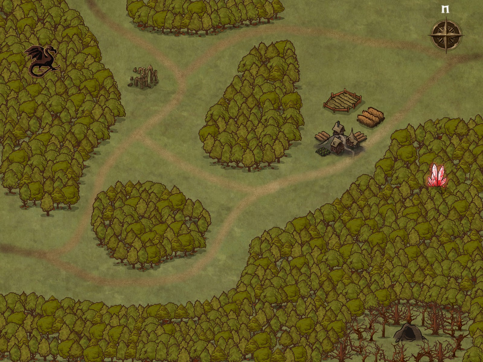 Aventura para D&D - Las Lágrimas de la Banshee - Mapa de Zona