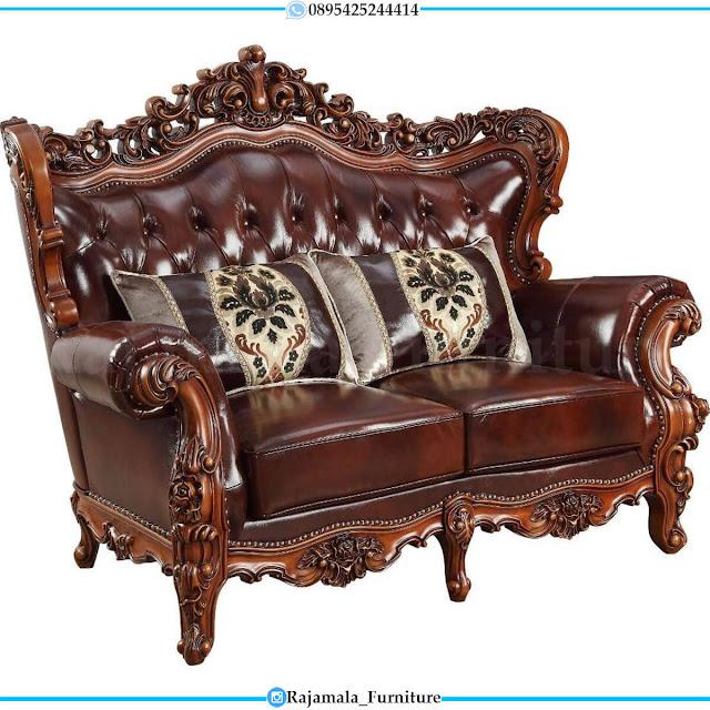 Harga Sofa Tamu Mewah Jati Natural Classic Luxury Perhutani RM-0608