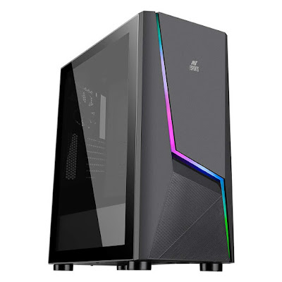 Ant Esports ICE-130AG Mid Tower Computer Case I Gaming Cabinet
