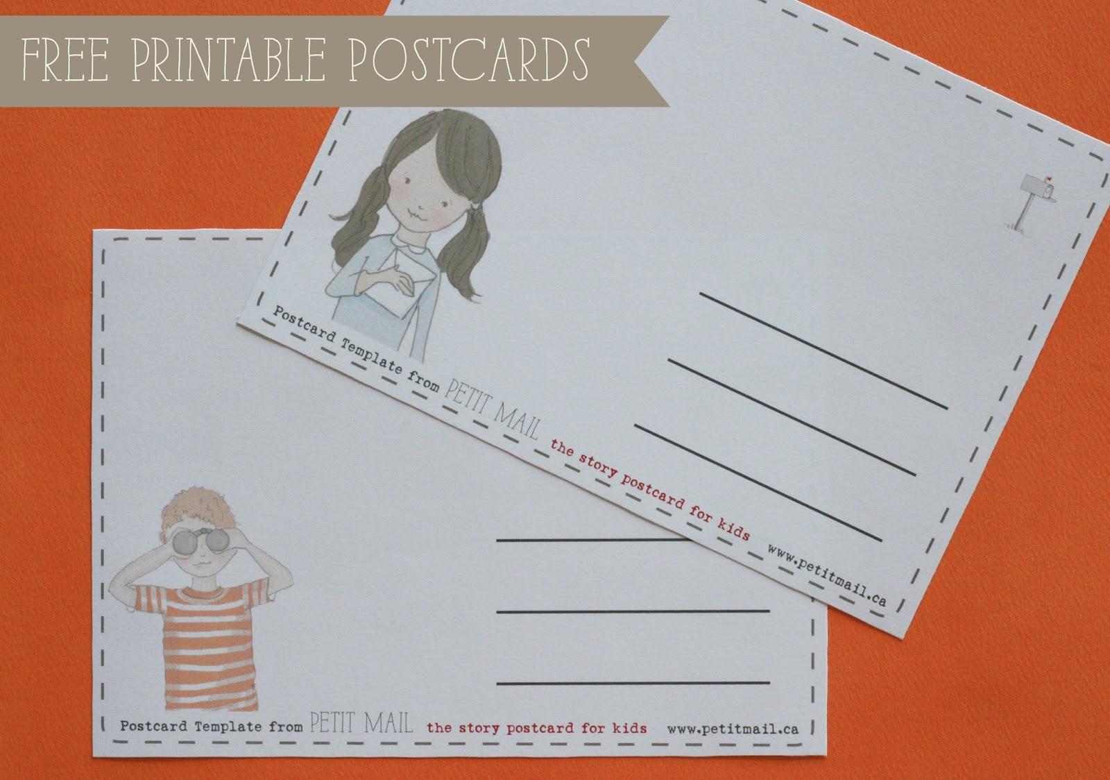 printable postcard for kids petit mail