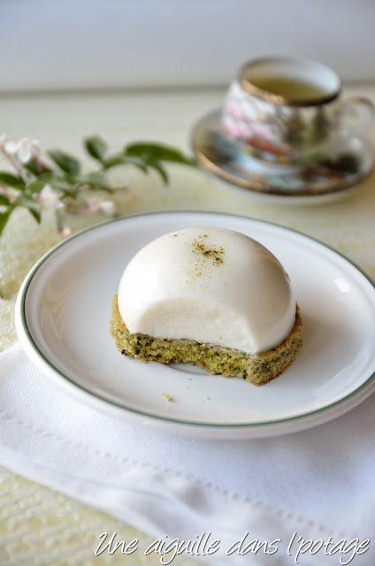 Financier thé vert et dôme au citron vert (sans gluten)