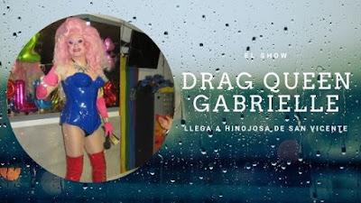 Drag queen Gabrielle. Show para cumpleaños en Toledo.