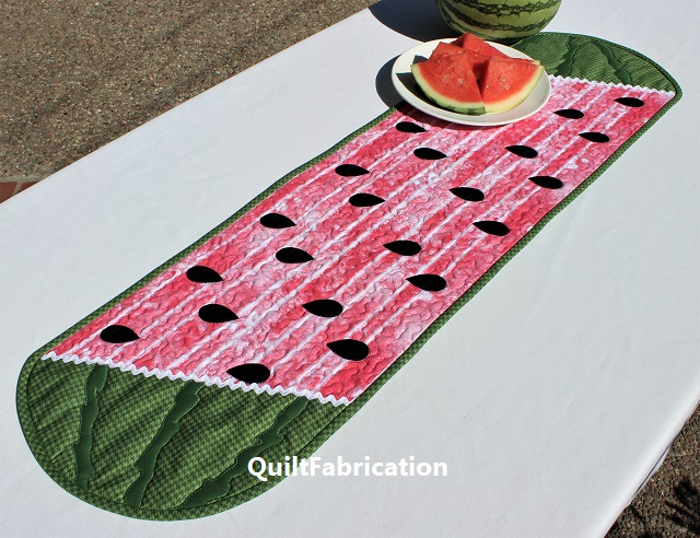 Whatamelon table runner by QuiltFabrication