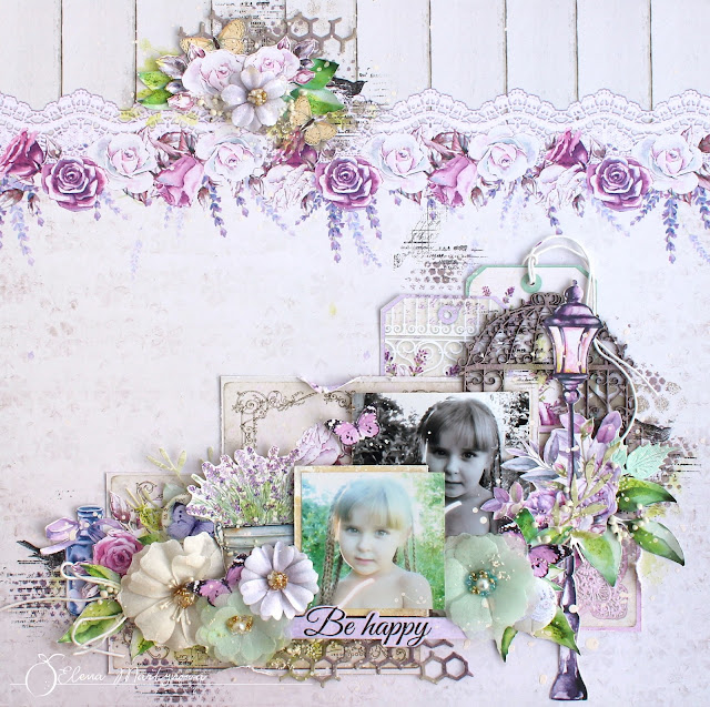 'Be happy' layout + video tutorial
