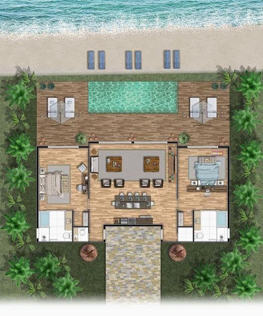 แปลนบ้านพร้อมสระว่ายน้ำ