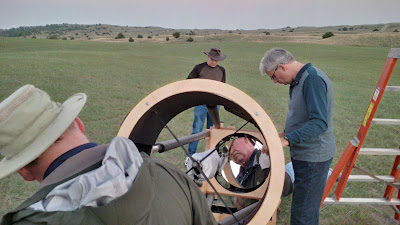 setting up the big Dobsonian