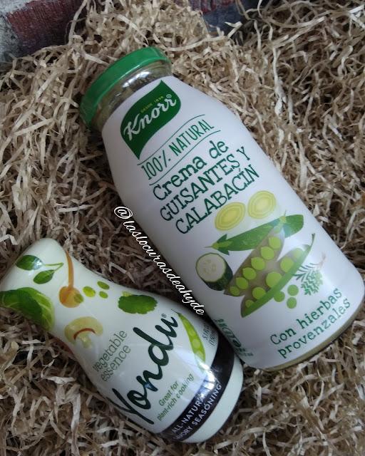 Yondu Vegetable Umani y crema de guisantes y calabacin de Knorr