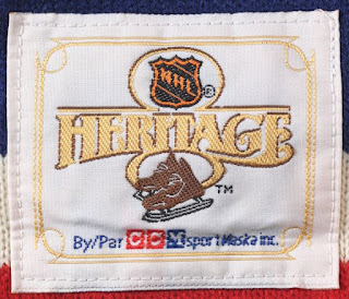 NHL Heritage Collection jersey - inside the neck label - 1