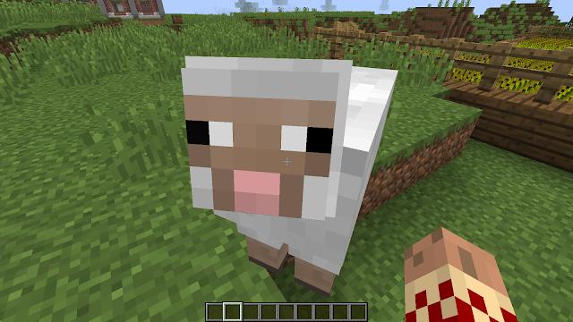 Schaap in het spel Minecraft