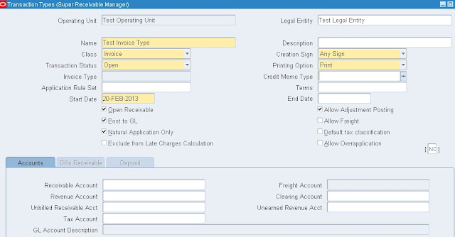 Receivables Setups in R12 | Oracle Techno & Functional