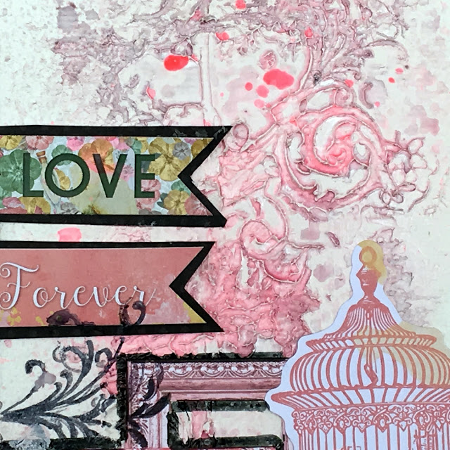 mixed media layout by Solange Marques featuring BoBunny Sunshine Bliss collection