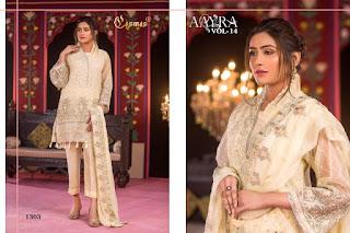 Cosmos Aayra vol 14 pakistani Suits catalog