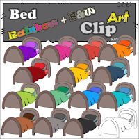 https://www.teacherspayteachers.com/Product/Bed-Rainbow-Clipart-2529899