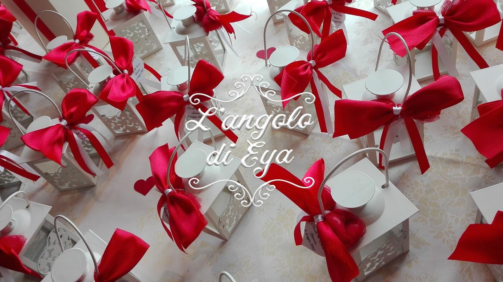Molto L' angolo di Eya, Bomboniere e allestimenti: Matrimonio in rosso  MF83