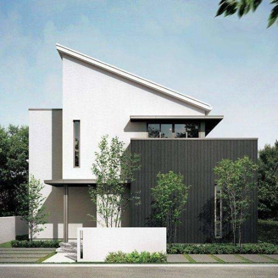 desain rumah minimalis atap miring ke samping