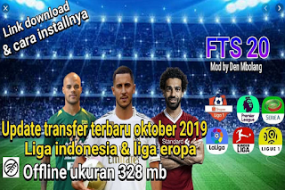 FTS 20 MOD Shopee Liga 1 Update Oktober 19/20