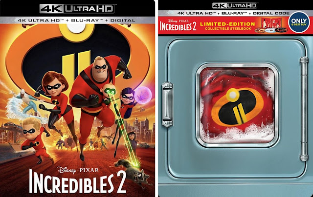 Incredibles 2 4K SteelBook and Standard Edition