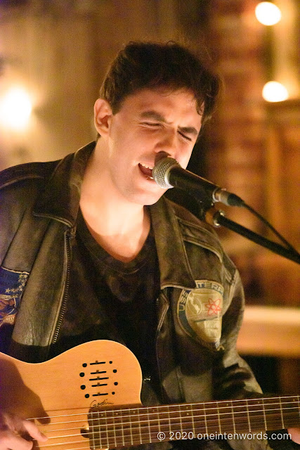 Marlon Chaplin at The Dakota Tavern on February 10, 2020 Photo by John Ordean at One In Ten Words oneintenwords.com toronto indie alternative live music blog concert photography pictures photos nikon d750 camera yyz photographer