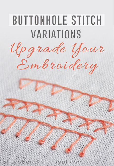 Buttonhole stitch variations