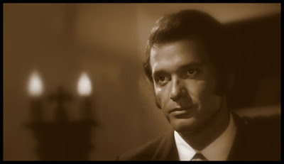 Handsome shot of Peter Carpenter from the film BLOOD MANIA (1970)