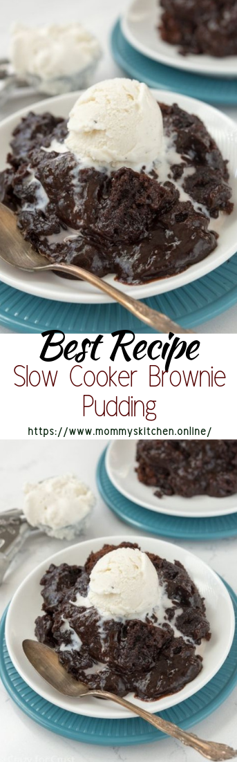 Slow Cooker Brownie Pudding #desserts #cakerecipe #chocolate