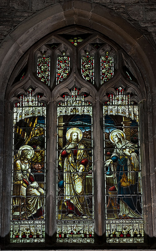 Stained Glass, Church of St Mary Magdalene by e_cathedra