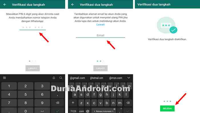 Mengaktifkan PIN WhatsApp
