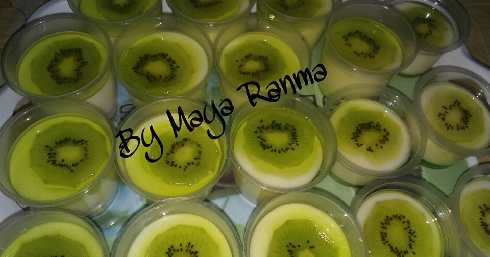 Resep Puding Sutra Vla Sirup Melon Toping Kiwi