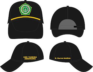 Desain Topi Sekolah SMK Yasmida Ambarawa