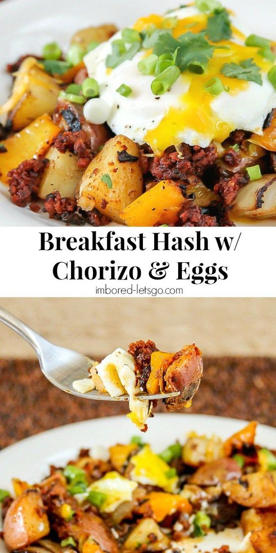 BREAKFAST HASH WITH CHORIZO & EGGS #recipes #dinnerideas #easydinnerideas #easysaturdaydinnerideas #food #foodporn #healthy #yummy #instafood #foodie #delicious #dinner #breakfast #dessert #lunch #vegan #cake #eatclean #homemade #diet #healthyfood #cleaneating #foodstagram