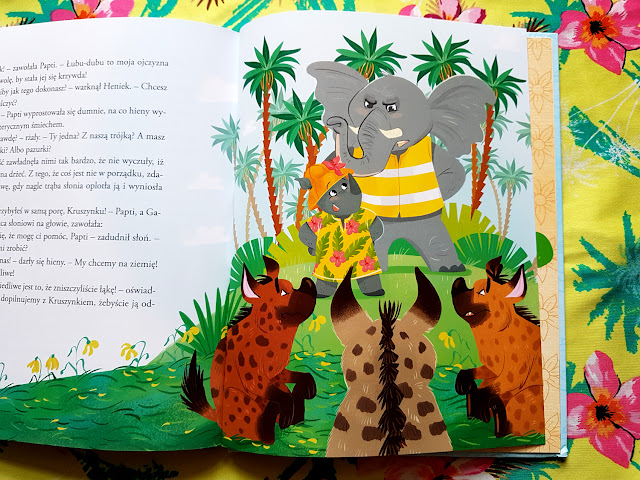 Biuro podróży  nosorożki Papti. Przygody  w dżungli Łubu-Dubu - Marcin Mortka - Magdalena Babińska - Wydawnictwo Wilga - GW Foksal - książki dla dzieci - książki o zwierzętach