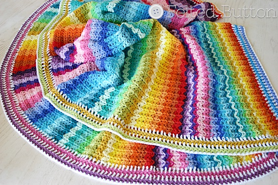 Felted Button - Colorful Crochet Patterns: Illuminations Blanket ...