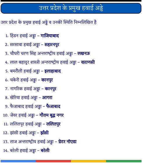 उत्तर प्रदेश के प्रमुख हवाई अड्डे पीडीऍफ़ पुस्तक | Uttar Pradesh Ke Pramukh Hawai Adde PDF Book In Hindi