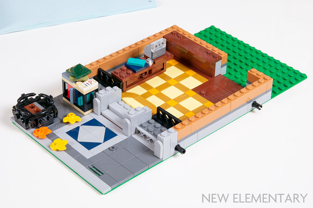 New LEGO Lot of 8 Tan 1x1 Creator Modular Sidewalk Finishing Tiles