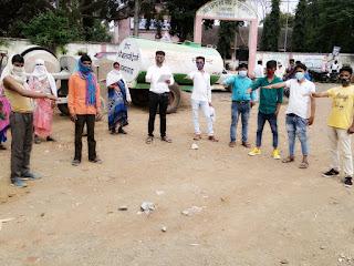 प्रधानमंत्री नरेंद्र मोदी के आह्वान पर नेहरू युवा केंद्र के द्वारा क्षेत्रवासियों को दिलाई गई प्रतिज्ञा शपथ