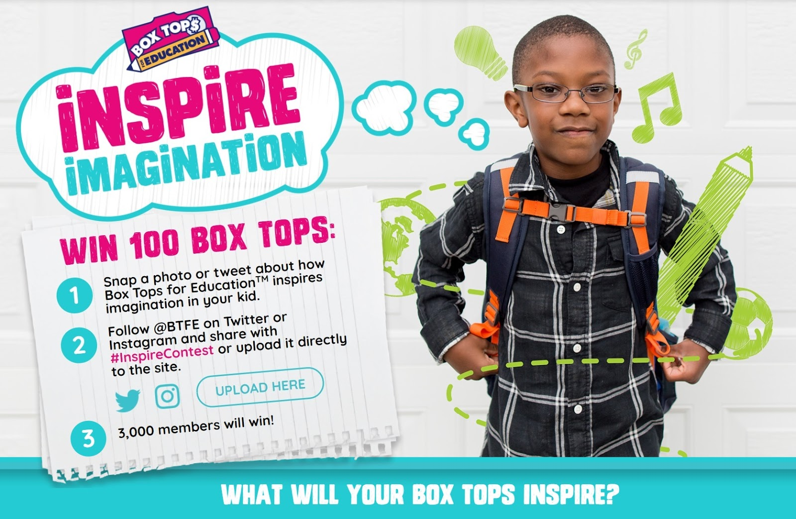 Inspire Imagination Box Tops program