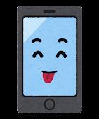 スマートフォンのキャラクター(てへぺろ)