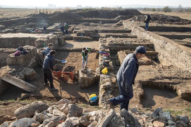 Buried under a Serbian cornfield, Roman military headquarters slowly sheds its secrets