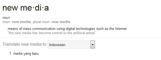 Pengertian Media Baru (New Media)