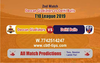 Who will win Today T10 2019, 2nd Match Delhi vs Deccan 2nd, 100% Sure Prediction