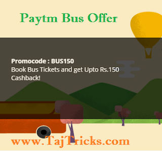 Paytm bus ticket Rs 150 Off